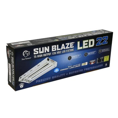 Indoor Gardening Sun Blaze 24 - T5 LED Fixture - 4 Lamp - 2 Foot - 120 Volt