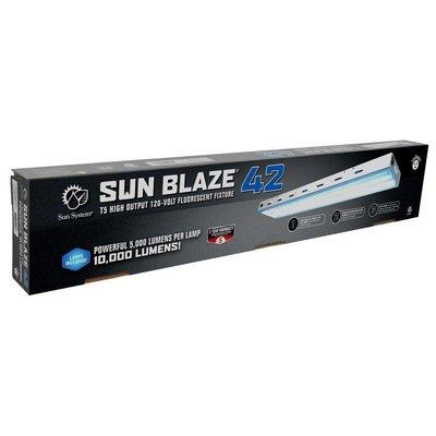 Lighting Sun Blaze 42 HO T5 Fluorescent Fixture -  2 Lamp - 4 Foot - 120 Volt