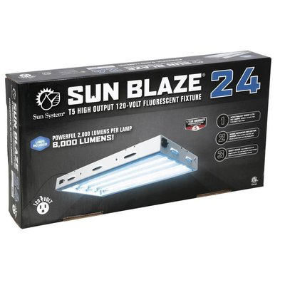 Lighting Sun Blaze 24 HO T5 Fluorescent Fixture -  4 Lamp - 2 Foot - 120 Volt