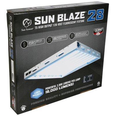 Lighting Sun Blaze 28 HO T5 Fluorescent Fixture -  8 Lamp - 2 Foot - 120 Volt