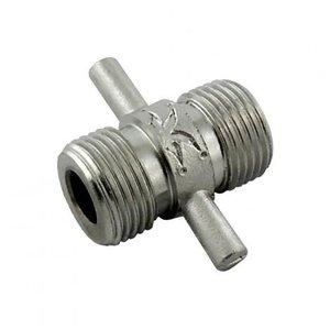 """Foxx Equipment Stainless Steel Beer Thread Coupler - 5/8"""" BSP"""