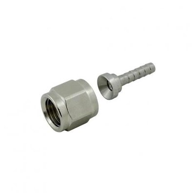 Beer and Wine Swivel Nut Hose Stem - Stainless Steel - 1/4 inch nut x 5/32 inch barb