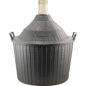 Beer and Wine Glass Demijohn w/Storage Basket - 14 gal (54 L)
