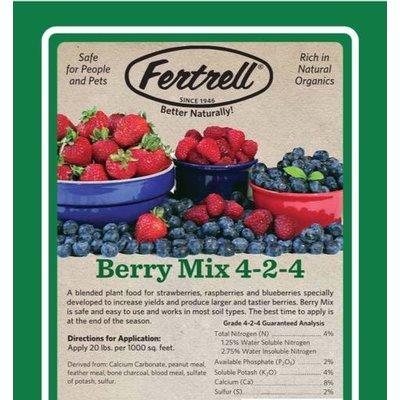 Outdoor Gardening Fertrell Berry Mix Organic Fertilizer - 25 lb