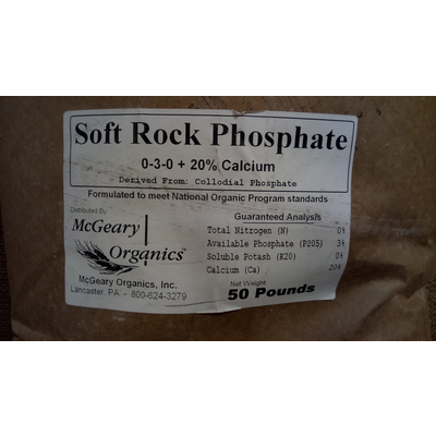 Outdoor Gardening Soft Rock Phosphate (CalPhos) - Granular - 50 lb