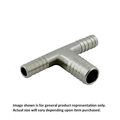 Foxx Equipment Barbed Reducing/Enlarging Tee - Stainless Steel - 1/4 inch x 1/4 inch x 3/8 inch