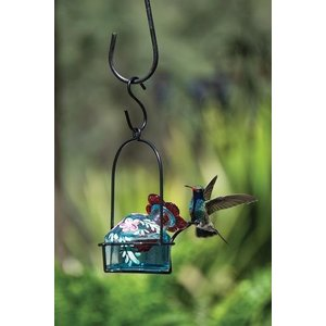 Home and Garden Parasol Lunch Pail Hummingbird Feeder - Assorted Botanical Pattern