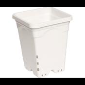 "Hydrofarm White Square Pot - 6"" x 6"" x 8"""