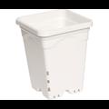 "Indoor Gardening White Square Pot - 7"" x 7"" x 9"""