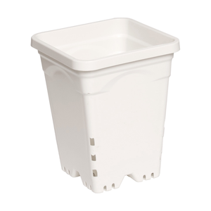 "Indoor Gardening White Square Pot - 7"" x 7"" x 9"""