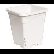"Indoor Gardening White Square Pot - 9"" x 9"" x 10.5"""