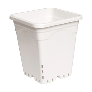 "Indoor Gardening White Square Pot - 9"" x 9"" x 10.5"""