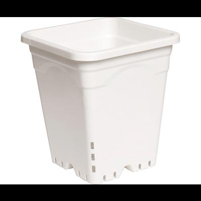 "Hydrofarm White Square Pot - 9"" x 9"" x 10"""