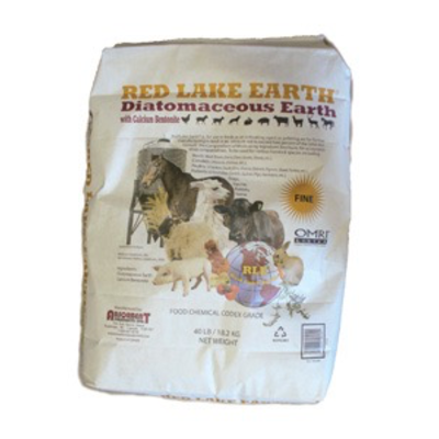 Red Lake Earth Red Lake Food Grade Organic Diatomaceous Earth - 40 lb