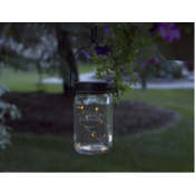 Home and Garden Afterglow Solar String Lights for Widemouth Mason Jars