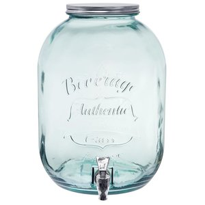 Home and Garden Recycled Glass Beverage Dispenser - 3.3 gallon