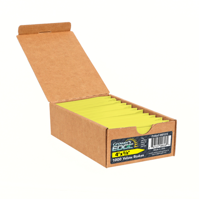 Grower's Edge Yellow Plant Labels - 100 pack