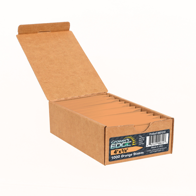 Grower's Edge Orange Plant Labels - 1,000 case
