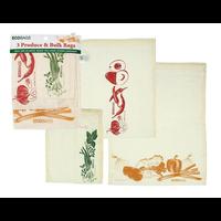 Home and Garden Reusabele Cotton Produce Bags - set/3