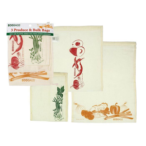 Home and Garden Reusabele Cotton Produce Bags - set/3