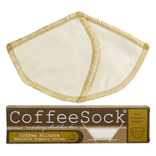 Home and Garden Coffee Sock Reusable Coffee Filter - Basket Filter (2pk)