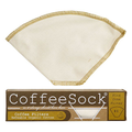 Home and Garden Coffee Sock Reusable Coffee Filter - #4 Cone Filter (2pk)