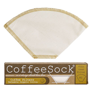 Home and Garden Coffee Sock Reusable Coffee Filter - #2 Cone Filter (2pk)