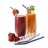 Home and Garden Colorful Metal Drinking Straws with Brush - 4 pack
