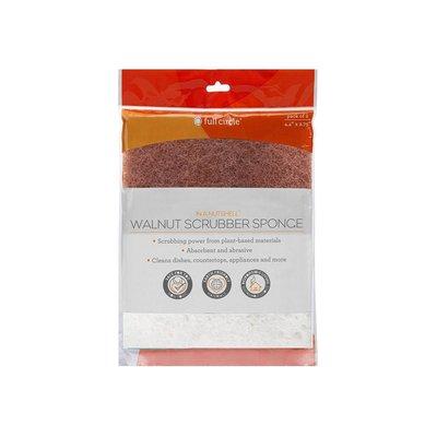 Full Circle Walnut Scrubber Sponge - 2 pack