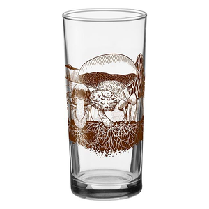 Down to Earth Mushrooms Drinking Glass