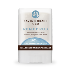 Home and Garden Saving Grace 167 mg CBD Pain Salve Stick - .35 oz