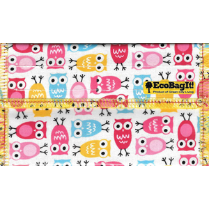 Home and Garden EcoBagIt Snack Bag - Lil' Owls