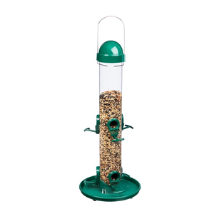 Home and Garden Easy Clean Tube Bird Feeder - 6 ports