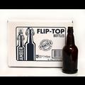 Beer and Wine Amber Swing Top 16 oz Bottles - 12/case