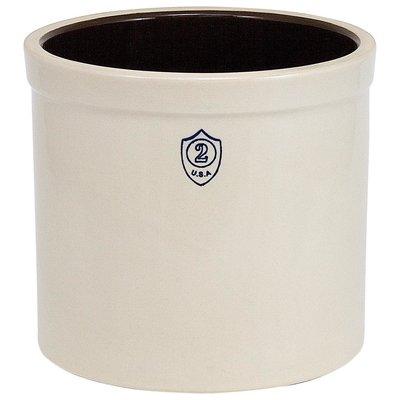 Down to Earth Ohio Stoneware Bristol Ceramic Crock - 2 gallon