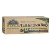 Home and Garden If You Care Compostable Tall Kitchen Bags - 13 Gallon