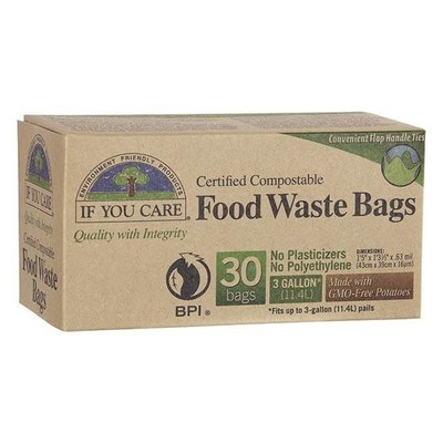 Home and Garden If You Care Compostable Food Waste Bags - 3 gallon