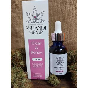 Home and Garden Ashandi CBD Hemp Clear and Renew Facial Serum - 1 oz