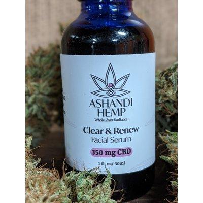Home and Garden Ashandi CBD Hemp Clear and Renew Facial Serum - 1 oz