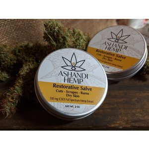 Home and Garden Ashandi CBD Hemp Restorative Skin Salve - 2 oz
