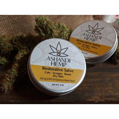 Home and Garden Ashandi CBD Hemp Restorative Skin Salve - 2 oz