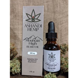 Home and Garden Ashandi CBD Hemp Mountain High Beard Oil - 1 oz