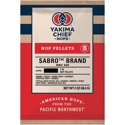 Yakima Chief Sabro (HBC 438) Hop Pellets - 2 oz