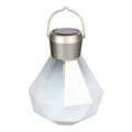 Home and Garden Solar Glass Gem Lantern - Milk