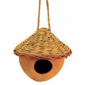 Tierra Garden Coco Hut Bird Nesting House