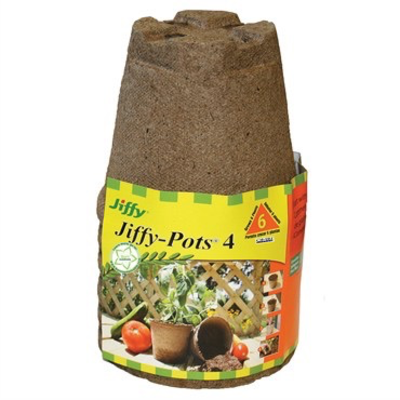 Propagation Jiffy Round Peat Pots - 4 inch - 6pk