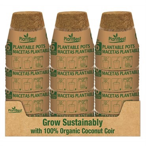 Propagation Plant Best Biodegradable Coco Coir Pot - 4.25 inch - 6 pk