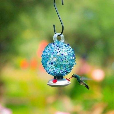 Home and Garden Parasol Dew Drop Hummingbird Feeder - Ocean