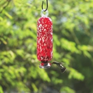 Home and Garden Parasol Filigree Hummingbird Feeder - Cloud Red