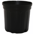 Outdoor Gardening Round Black Nursery Pot - 1 gallon